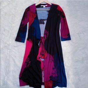 Diane Von Furstenburg Wrap Dress New Julian Silk 0